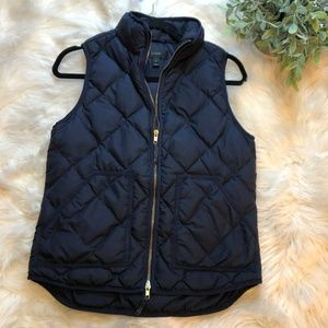 J. Crew Jackets & Coats - J. Crew Excursion Navy Blue Quilted Puffer Vest